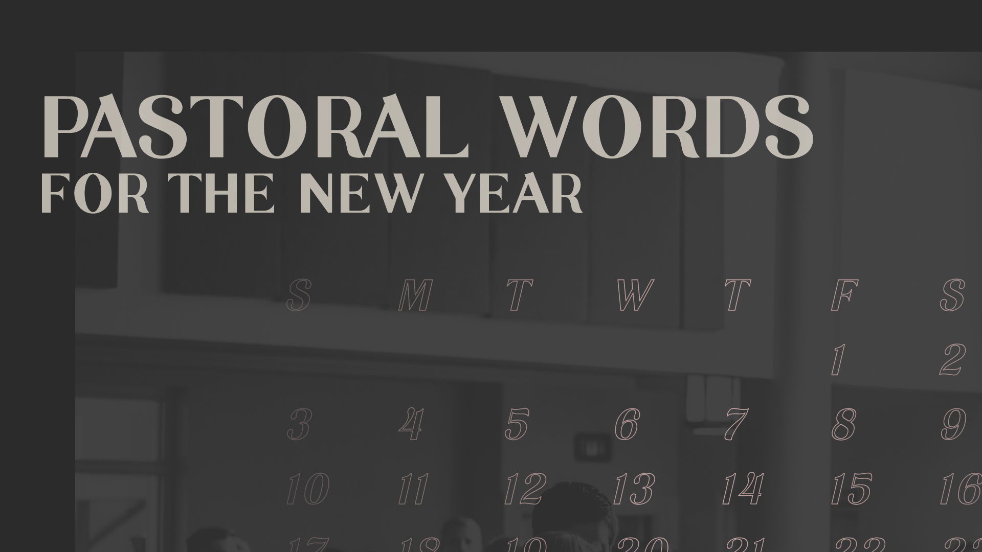 Pastoral Words for the New Year